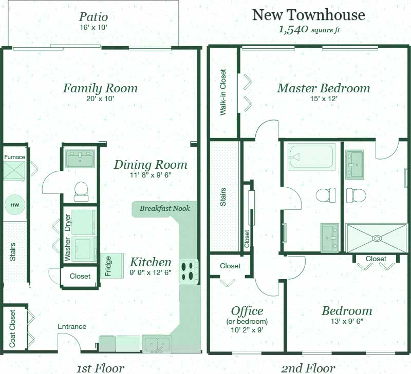 Terraces At Town Center: Modern 3 Bedroom Townhouses For Rent In Grand Island, NY